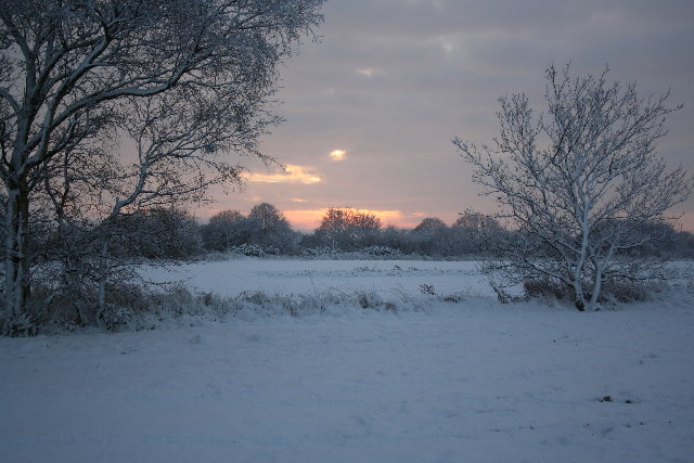 Winter scene near Harby