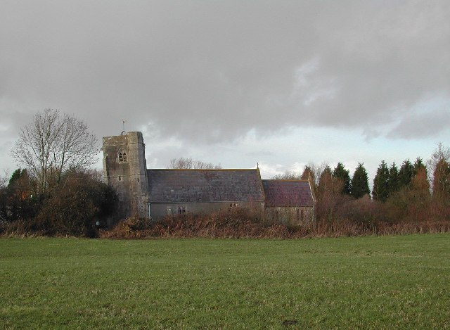 The leaning tower of Puxton church