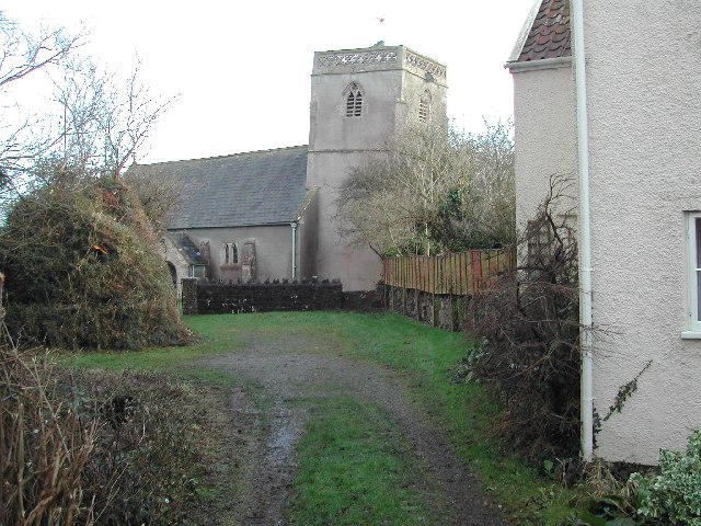Puxton church from the north