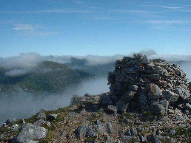 Summit cairn Spidean Mialach