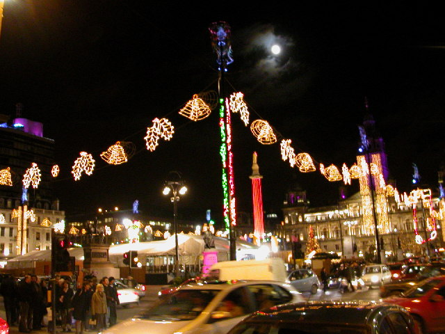 George Square, Glasgow. Christmas lights 2005