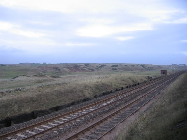 Seascale rail lines and Golf Course.