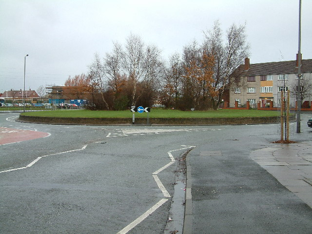 Roundabout in Netherton