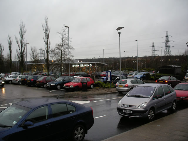 Burger King and parking at Tower Park, Poole