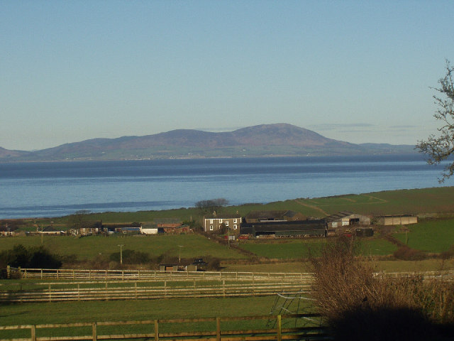 Criffel, Dumfriesshire, from Crosby, Cumbria