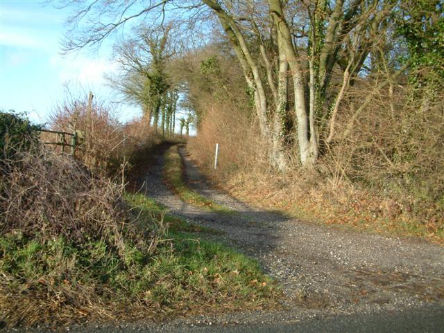 Bridleway up onto Portway Roman Road