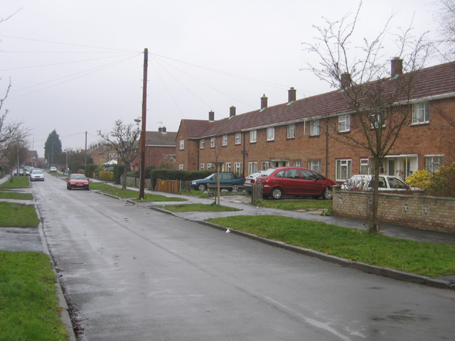 Brimley Road, Arbury, Cambridge on New Year's Day 2006
