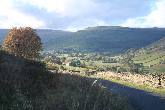 Swaledale from above Crow Trees