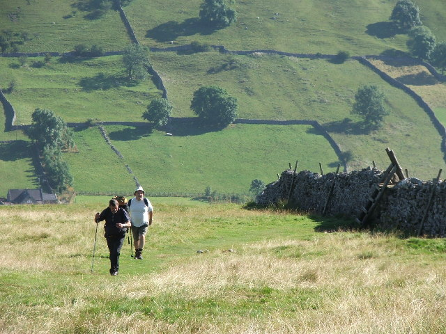 Climbing out of Wharfedale.
