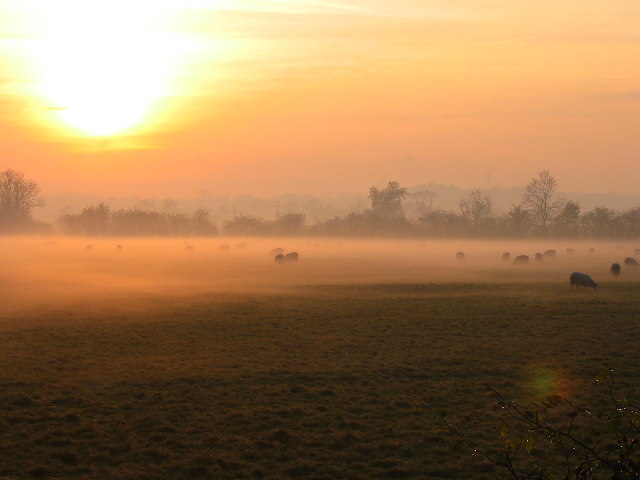 Mist over the Soar Valley, Sileby