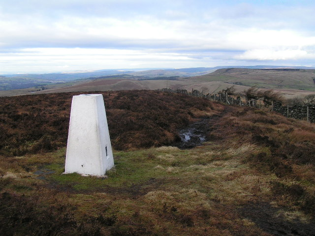 Trig point, Burbage Edge