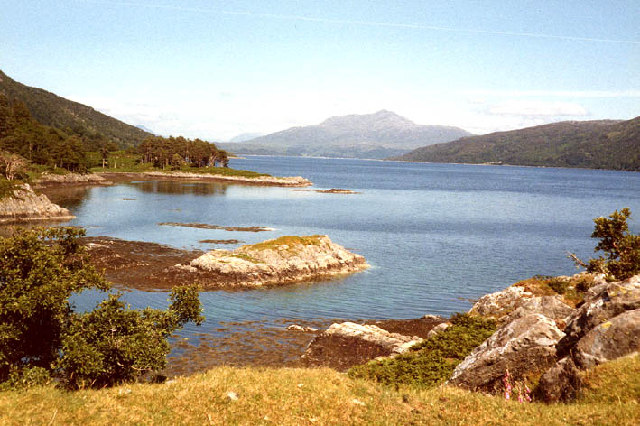 View up Loch Sunart from Dun Ghallain