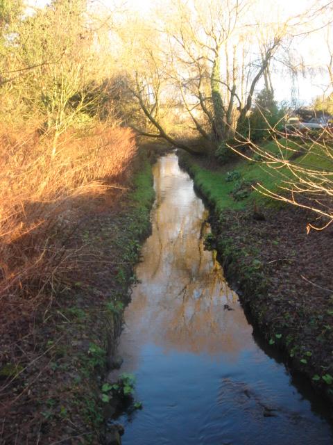 Brook running under Hough Lane