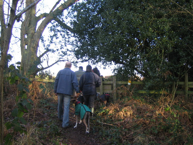 Queuing for a Stile on the Heart of England Way.