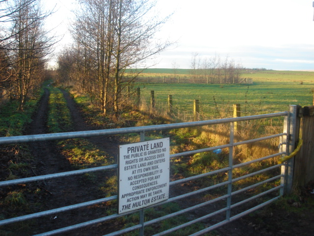 Hulton estate private land next to M61 motorway
