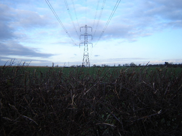 Fields spoilt by pylons