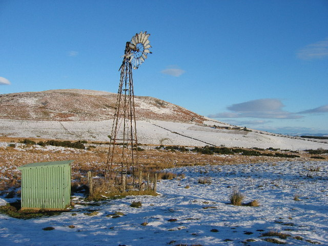 Wind turbine near Little Glenshee