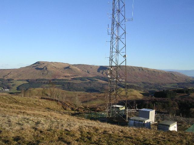 Telecom mast, Auchineden Hill