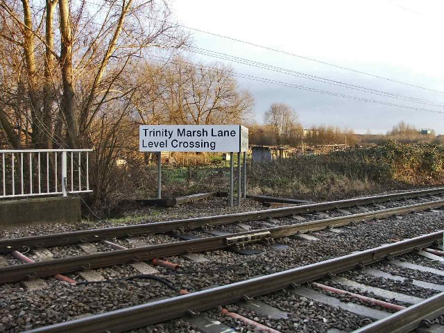Trinity Marsh Lane Level Crossing
