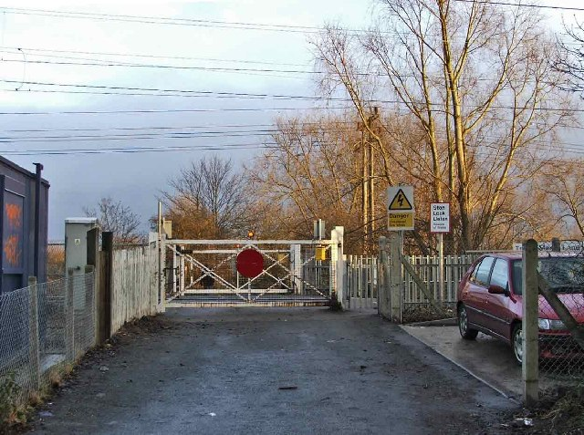 Gates to Trinity Marsh Lane Level Crossing