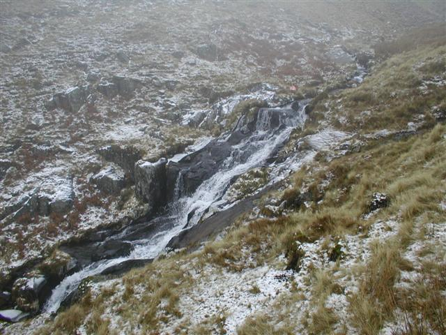 Lower Waterfall  (430m contour), Roughten Gill