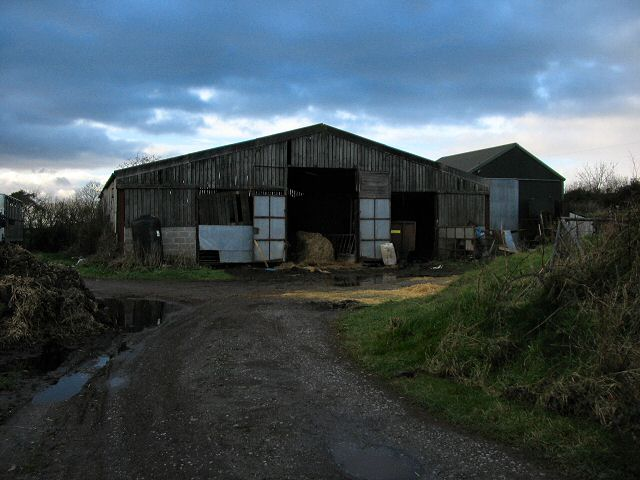 Farm buildings near Combeshead Cross, South Devon