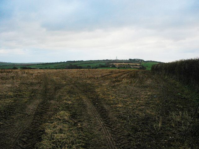 Winter ploughed field - Moreleigh, South Devon