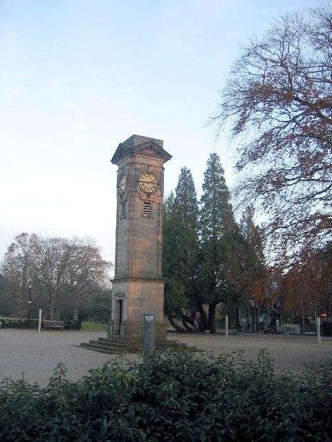 Clock in the Jephson Gardens