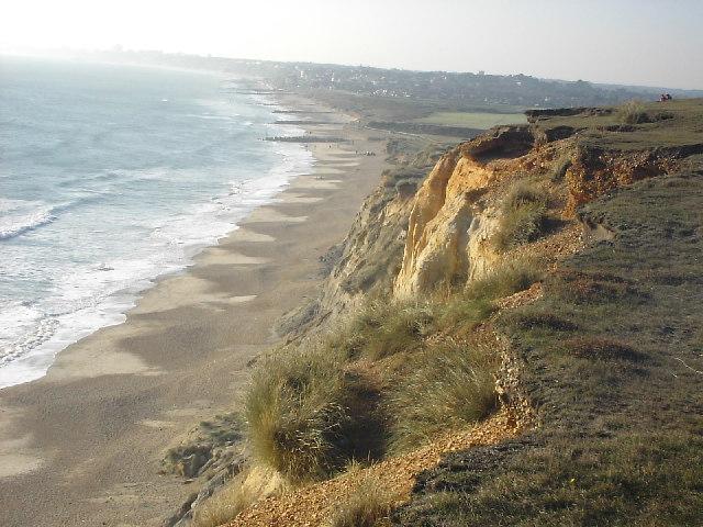 Coastal erosion, Hengistbury Head