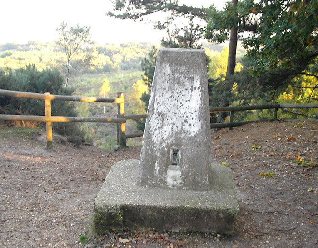 Triangulation Pillar, St Catherine's Hill, Bosley Heath
