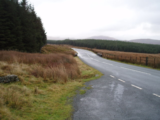 B4391 looking south over Ffridd Nant-Crethyll forest