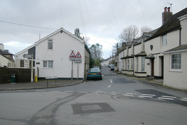 Road junction, Landrake