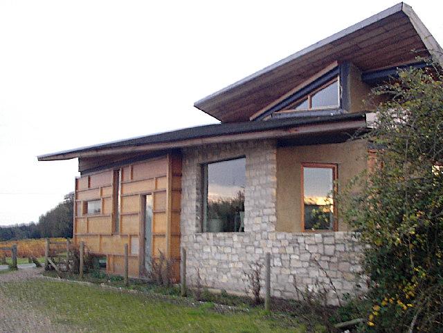 Modern house near Holmsley Bog