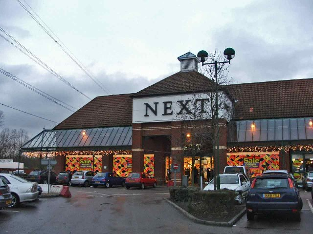 Next Store in Retail Park, Halfhide Lane, Cheshunt, Hertfordshire