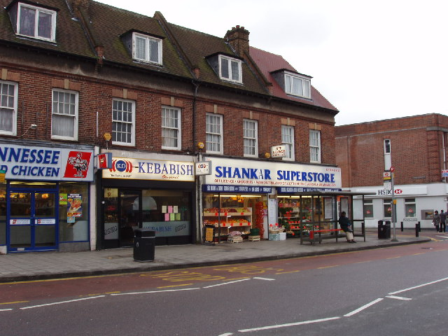 Shops in Northolt Road, South Harrow