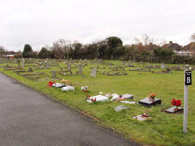 Cemetery in South Harrow