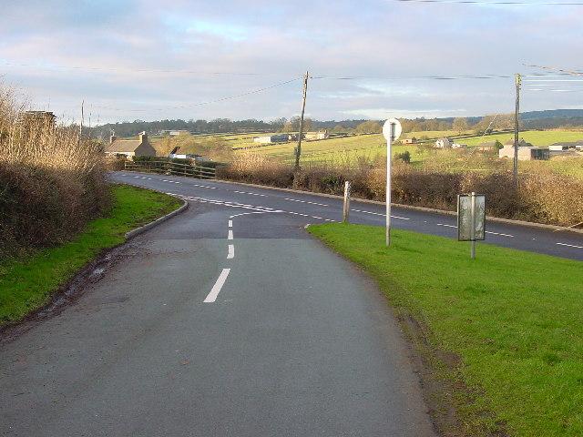 Road leaving Denstone