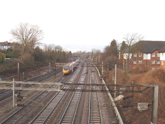 West Coast Main Line at Kenton