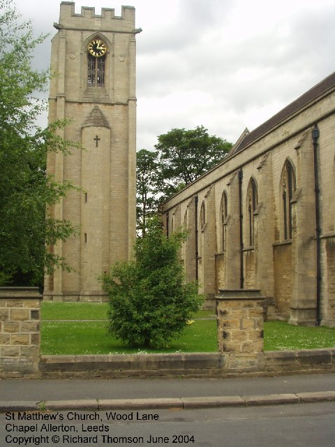 St Matthews Church, Wood Lane, Chapel Allerton, Leeds