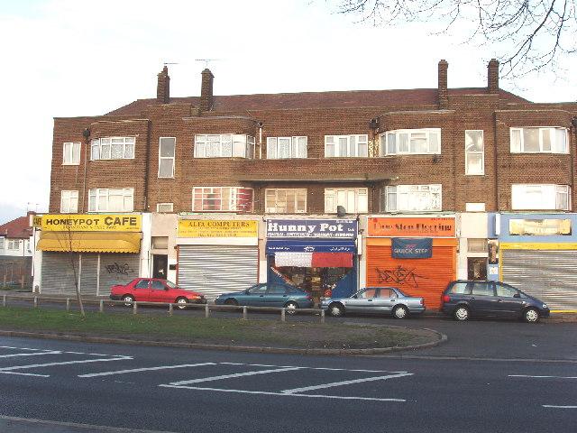 Shops in Honeypot Lane, Queensbury