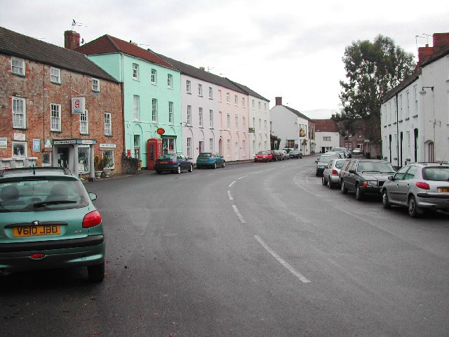 Broad Street, Wrington looking eastwards