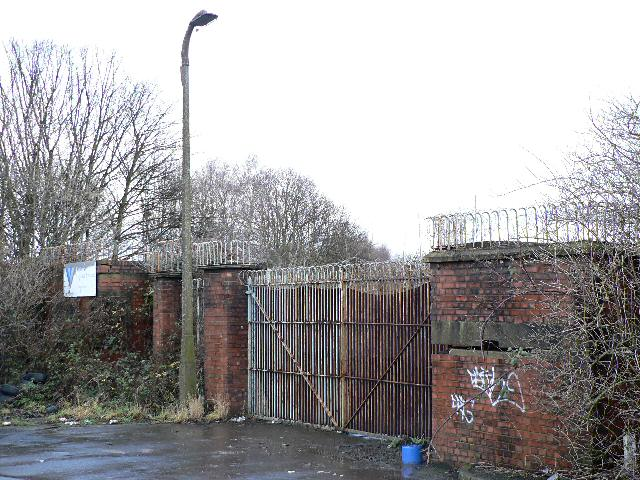 Disused entrance to armaments works