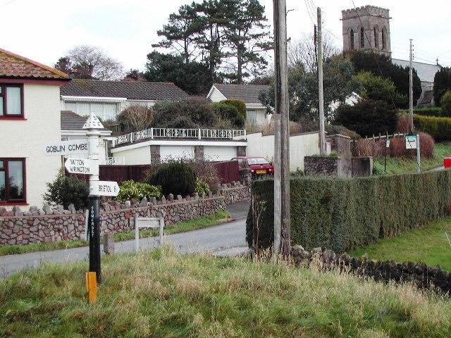 Redhill village and church
