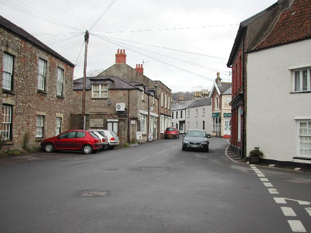 Wrington High Street looking north
