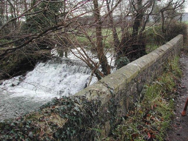 Waterfall on the Congresbury Yeo SW of Wrington