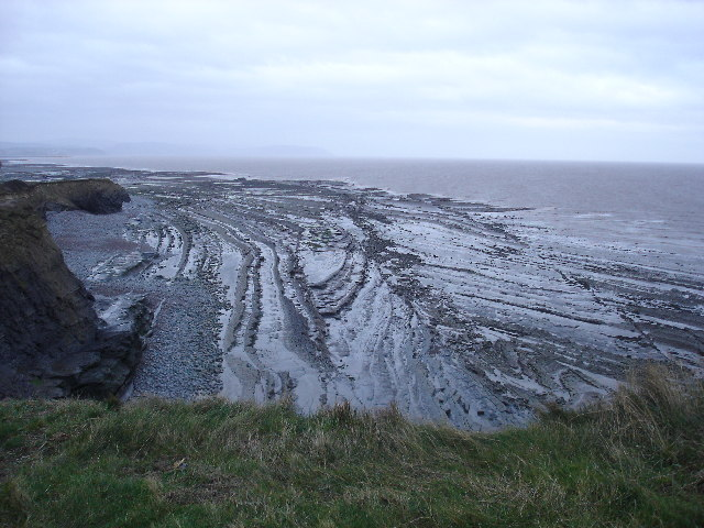 Wave cut platform at Kilve Beach