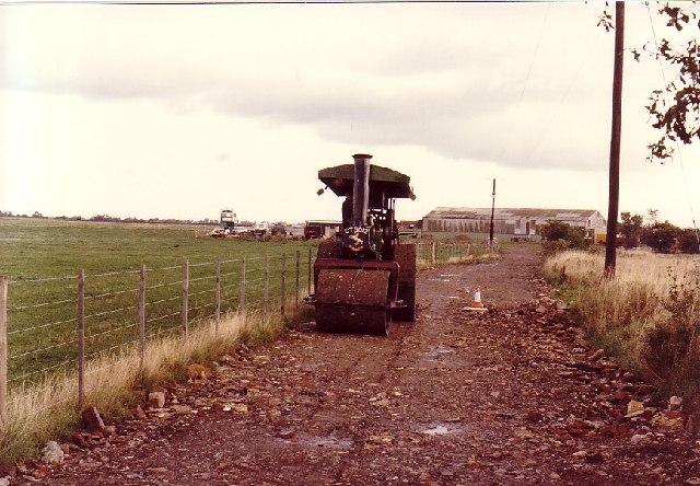 Steam Roller at Rufforth Airfield near York