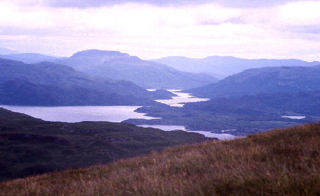 Islands in Loch Sunart viewed from Ben Hiant