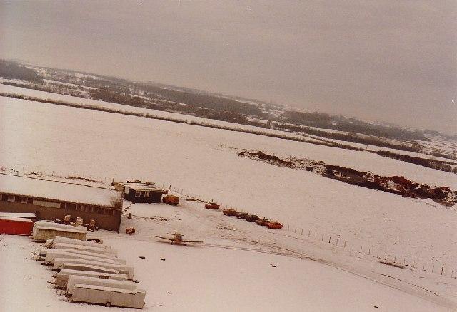 Winter at Rufforth Airfield, near York