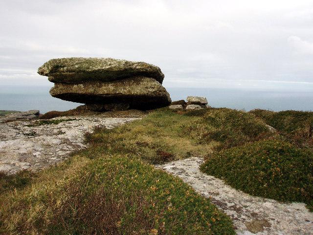 Granite boulders on Trendrine Hill
